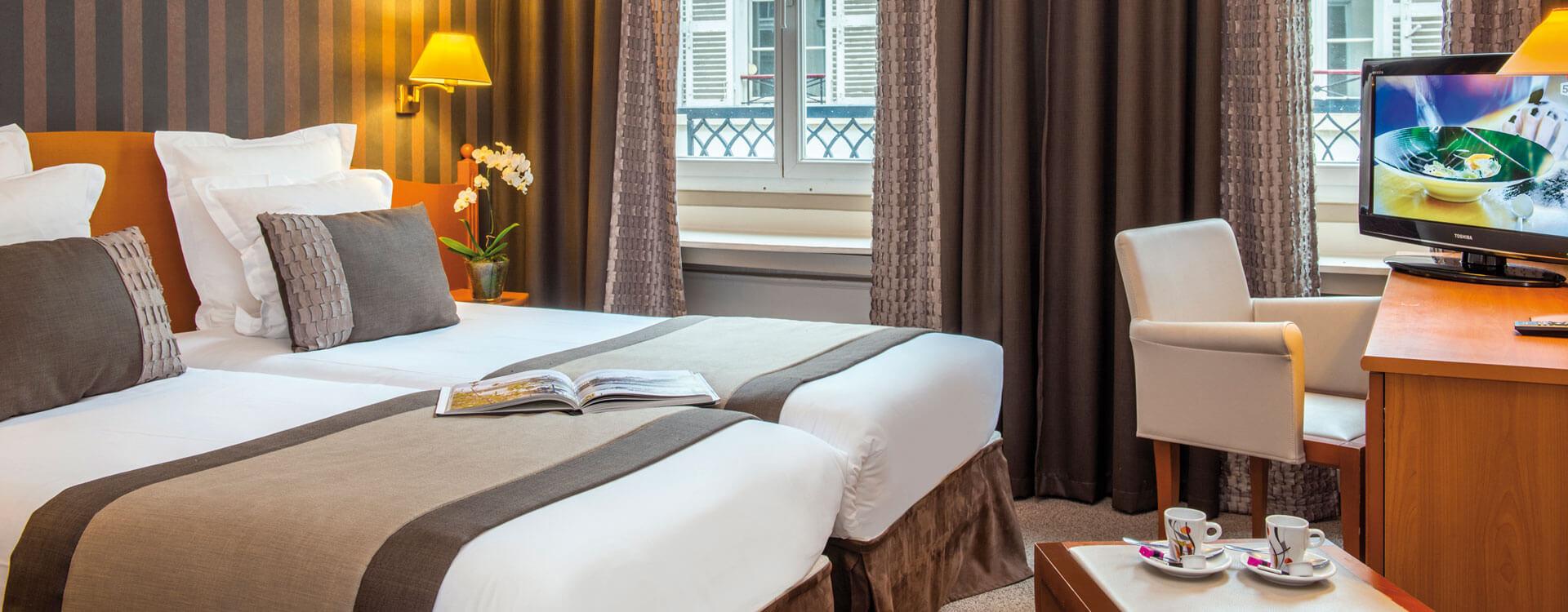 Chambre standard - Hôtel*** Paris Provinces Opéra